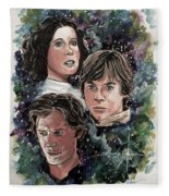 The Princess, The Knight And The Scoundrel Fleece Blanket