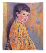 The Print Dress Fleece Blanket