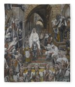 The Procession In The Streets Of Jerusalem Fleece Blanket