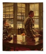 The Prodigal Son In Modern Life  The Departure Fleece Blanket