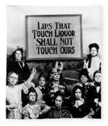 The Prohibition Temperance League 1920 Fleece Blanket