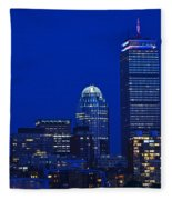 The Pru Lit Up In Red White And Blue For The Fourth Of July Fleece Blanket