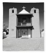 The Pueblo Church Fleece Blanket