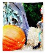 the Pumpkin and the Scarecrow Fleece Blanket