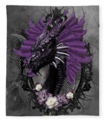 The Purple Dragon Fleece Blanket