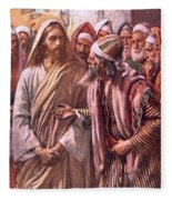 The Question Of The Sadducees Fleece Blanket