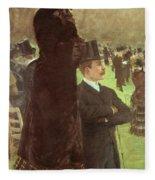 The Races At Auteuil Fleece Blanket