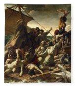 The Raft Of The Medusa Fleece Blanket