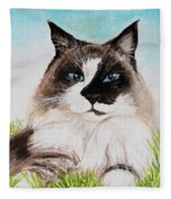 The Ragdoll Fleece Blanket