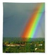 The Rainbow Apartments Fleece Blanket