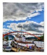 The Rainbow Bridge - Laconner Washington Fleece Blanket