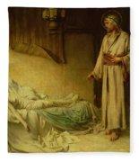 The Raising Of Jairus's Daughter Fleece Blanket