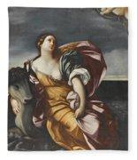 The Rape Of Europa Fleece Blanket