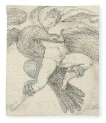 The Rape Of Ganymede Fleece Blanket