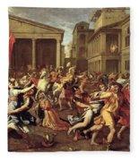 The Rape Of The Sabines Fleece Blanket