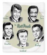 The Rat Pack Fleece Blanket by Greg Joens