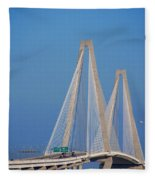 The Ravanel Bridge In Charleston Fleece Blanket