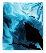 The Raven's Blues Fleece Blanket