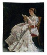 The Reader Fleece Blanket