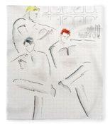 The Reading Room  Fleece Blanket