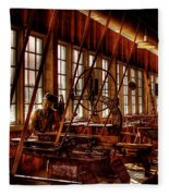 The Red Barn Of The Boeing Company Iv Fleece Blanket