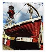 The Red Boat Fleece Blanket
