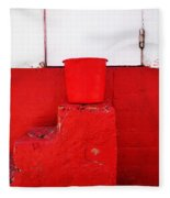 The Red Bucket Fleece Blanket
