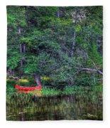 The Red Canoe Fleece Blanket