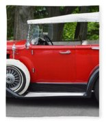 The Red Convertible Fleece Blanket