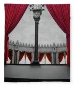 The Red Curtain Fleece Blanket