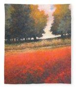 The Red Field #2 Fleece Blanket