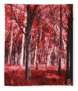 The Red Forest Fleece Blanket