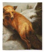 The Red Fox Fleece Blanket
