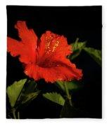The Red Hibiscus Fleece Blanket