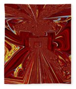 The Red Palace In Abstract Fleece Blanket