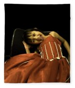 The Red Party Dress Fleece Blanket