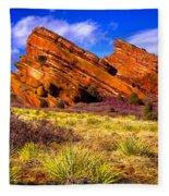 The Red Rock Park Vi Fleece Blanket