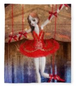 The Red Shoes Fleece Blanket