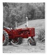 The Red Tractor Fleece Blanket