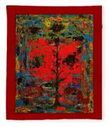 The Red Tree -or- Paint Fleece Blanket