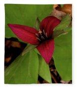 The Red Trillium Fleece Blanket