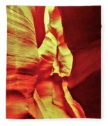 The Reddish Yellow Path Fleece Blanket