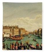 The Redentore Feast In Venice Fleece Blanket