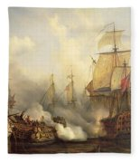 The Redoutable At Trafalgar Fleece Blanket