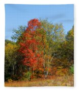 The Reds And Greens Of Autumn Fleece Blanket