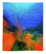 The Reef In Watercolor Abstract Fleece Blanket