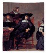 The Regents Of The Old Men And Women Hospital In Amsterdam Fleece Blanket