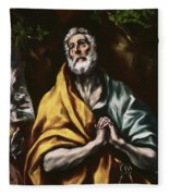 The Repentant Saint Peter Fleece Blanket