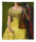 The Rest His Daughter Edith Fleece Blanket
