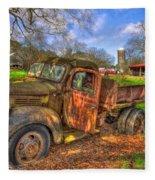 The Resting Place Boswell Farm 1947 Dodge Dump Truck Fleece Blanket